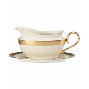 Lenox Westchester Collection Bone China 2-Pc. Gravy Boat Set  - Ivory
