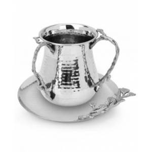 Classic Touch Tervy Jeweled Wash Cup  - Silver