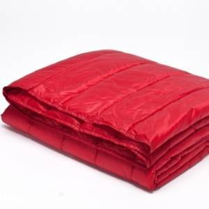 Epoch Hometex Inc Puff Packable Down Alternative Indoor/Outdoor Water Resistant Blanket with Extra Strong Nylon Cover Bedding  - Red