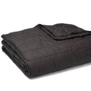 Epoch Hometex Inc Puff Packable Down Alternative Indoor/Outdoor Water Resistant Blanket with Extra Strong Nylon Cover Bedding  - Black