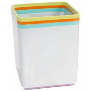 Creative Labs Bath Accessories, All That Jazz Trash Can Bedding  - Multi