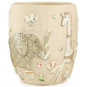 Creative Labs Bath Accessories, Animal Crackers Trash Can Bedding  - Natural