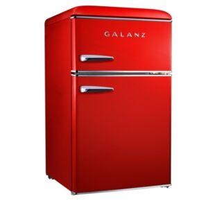 Galanz 3.1 Cu. Ft. Dual Door Retro Style Mini-Fridge  - Black