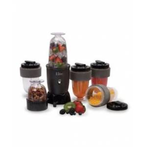 Elite By Maxi-matic Elite Cuisine 17 Piece Personal Drink Blender with 4 x 16 Ounce Travel Cups  - Black