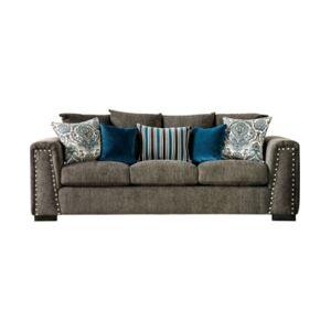 Furniture of America Tukwila Upholstered Sofa  - Slate