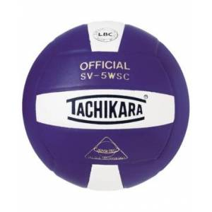 Tachikara SV5WSC Sensi-Tec Composite Volleyball  - Purple, White
