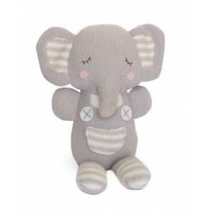 Living Textiles Lolli Living Knit Plush Toys Bedding  - Theodore Elephant