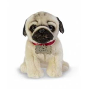 Fao Schwarz Toy Plush Realistic Pug
