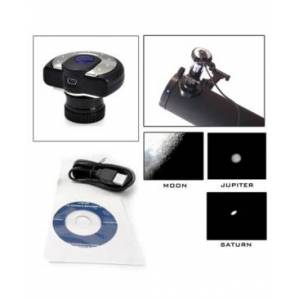 Cassini 1.3Mp Digital Telescope Eyepiece Camera for Photography and Video with Usb  - Black