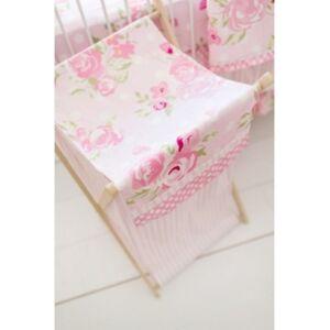 My Baby Sam Rosebud Lane Hamper Bedding  - Pink
