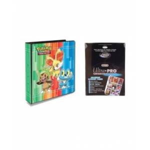 """Ultra Pro Pokemon X and Y 2"""" 3 Ring Binder Card Album with 100 Ultra Pro Platinum 9 Pocket Sheets"""