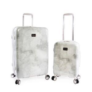 Bebe Lilah 2-Pc. Hardside Luggage Set  - Silver Marble