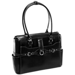 McKlein Willow Springs Leather Laptop Briefcase  - Black