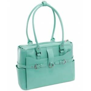 McKlein Willow Springs Leather Laptop Briefcase  - Mint