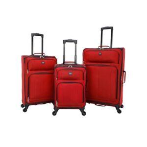 Sharper Image Intercept 3-Piece Softside Luggage Set  - Red