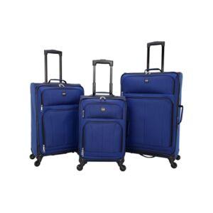 Sharper Image Intercept 3-Piece Softside Luggage Set  - Blue