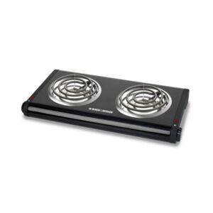 Black & Decker Double-Burner Portable Buffet Range  - Black