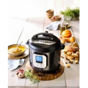 Instant Pot Duo Nova Black Stainless Steel 6-Qt. 7-in-1 One-Touch Multi-Cooker, Created for Macy's  - Black Stainless Steel