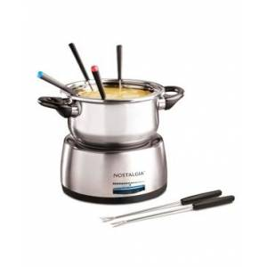 Nostalgia 6-Cup Stainless Steel Fondue Pot  - Stainless Steel