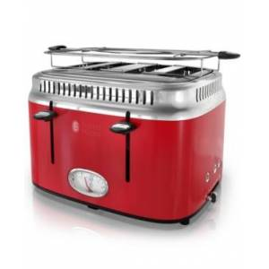 Russell Hobbs Retro Style 4-Slice Toaster  - Red