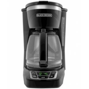 Black & Decker 12-Cup Programmable Coffee Maker, Black, CM1160B