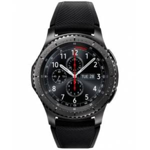 Samsung Gear S3 frontier Smart Watch with Stainless Steel Case & Black Silicone Strap 46mm