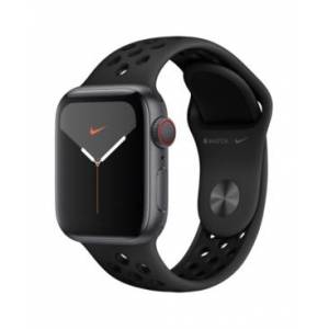 Apple Watch Nike Series 5 Gps + Cellular, 40mm Space Gray Aluminum Case with Anthracite/Black Nike Sport Band