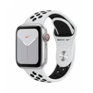 Apple Watch Nike Series 5 Gps + Cellular, 40mm Silver Aluminum Case with Pure Platinum/Black Nike Sport Band