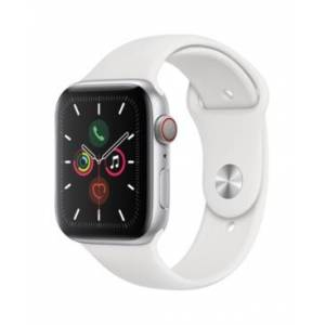 Apple Watch Series 5 Gps + Cellular, 44mm Silver Aluminum Case with White Sport Band