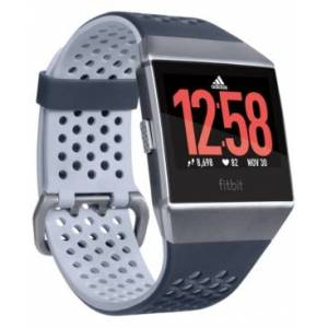 Fitbit Ionic Adidas Edition Ink Blue & Ice Gray Touchscreen Smart Watch 35mm
