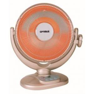 """Optimus H-4438 14"""" Oscil Dish Heater with Remote Control and Overheat Thermostat Home"""