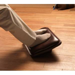 Lifeform Ultimate Executive Padded Footrest Mont Blanc Premium Leather / Wolf