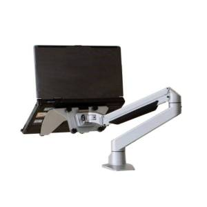 Relax The Back Larkspur Extended Reach Single Monitor Arm Heavy Monitor Arm / Silver