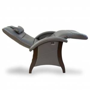 Andrew Leblanc Savoie 3.0 Zero Gravity Recliner in Premium Leather by Relax The Back® Tribeca Premium Leather / Black / Teak