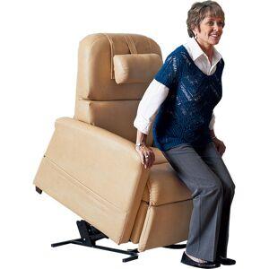 Zero Gravity Lift Chair by Relax The Back Medium / Simulated Leather / Cream  - Cream - Size: Medium