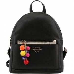 Moschino Love Moschino Black Faux Leather Backpack