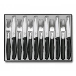 Victorinox Swiss Classic Table Set, 12 pieces Victorinox United Kingdom (black, 11 cm)