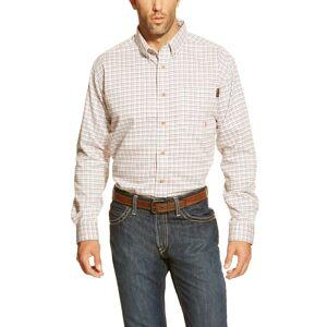Ariat Men's FR Gauge Work Shirt in White, Large by Ariat
