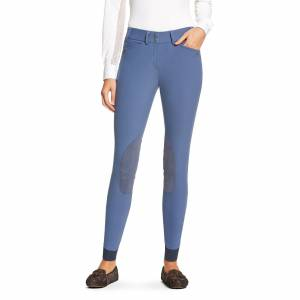 Ariat Women's Heritage Elite Knee Patch Breech Riding Pant in Coastal Fjord Cotton, size 36 by Ariat