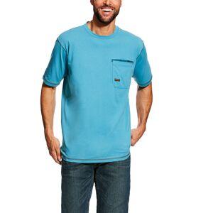 Ariat Men's Rebar Workman T-Shirt in Larkspur Cotton, Medium by Ariat