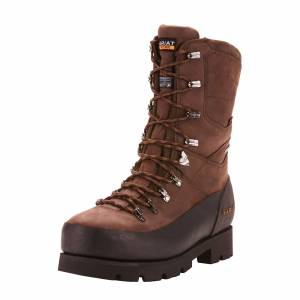 """Ariat Men's Linesman Ridge 10"""" GORE-TEX 400g Composite Toe Work Boots in Bitter Brown Leather, size 12 by Ariat"""