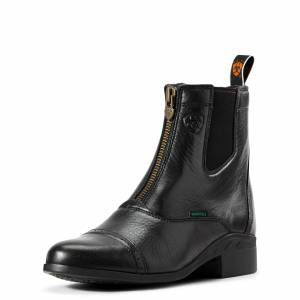 Ariat Women's Heritage Breeze Zip Paddock Paddock Boots in Black Leather, size 9 by Ariat