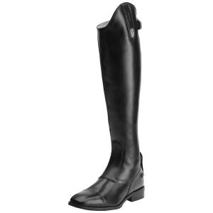 Ariat Women's Monaco LX Dress Zip Tall Riding Boots in Black Calf Leather, size 7.5 by Ariat