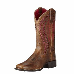 Ariat Women's Quickdraw VentTEK Western Boots in Barn Brown Leather, size 10 by Ariat