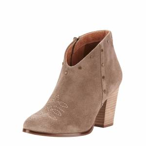 Ariat Women's Unbridled Kaelyn Boots in Taupe Suede Leather, size 9.5 by Ariat