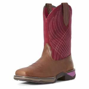 Ariat Women's Anthem Western Boots in Matte Brown Leather, size 10.5 by Ariat