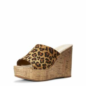 Ariat Women's Unbridled Layla Boots in Leopard Suede, size 9 by Ariat