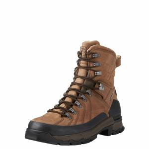 """Ariat Men's Catalyst VX Defiant 8"""" Gore-Tex Hunting Boots in Rugged Bark Leather, size 8 by Ariat"""