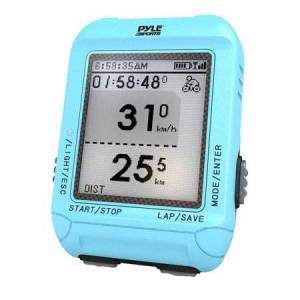 Pyle Smart Bicycling Computer with GPS Performance & Navigation Analysis Software and ANT+ Technology for Biking, Training, Exercise, Fitness (Blue Color)