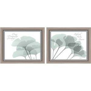 """Generic Framed Graphic """"Gingko Peace"""" Wall Art, 16"""" x 13"""", Set of 2"""